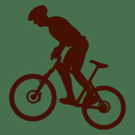 Bicicleta de montaña montando cuesta arriba