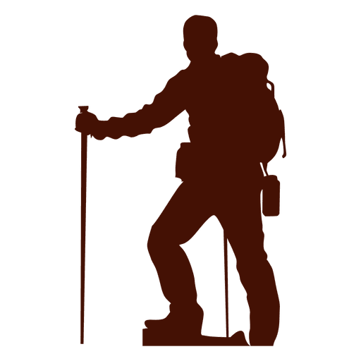 Mountaineering altitude climber silhouette Transparent PNG