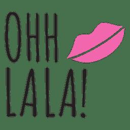 Beijo da frase do casamento de Ohh lala