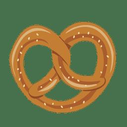 Ilustración de galleta de pretzel de Oktoberfest