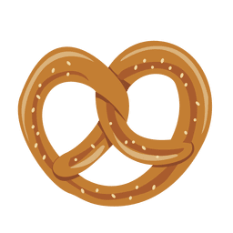 Oktoberfest pretzel cookie illustration