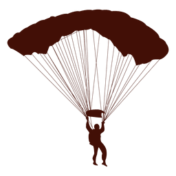 Paragliding flight silhouette
