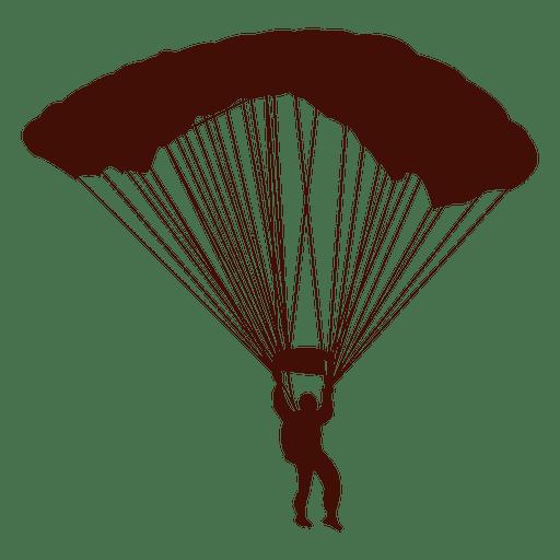 Paragliding flight silhouette