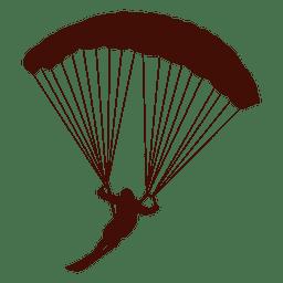 Paragliding flight left turn