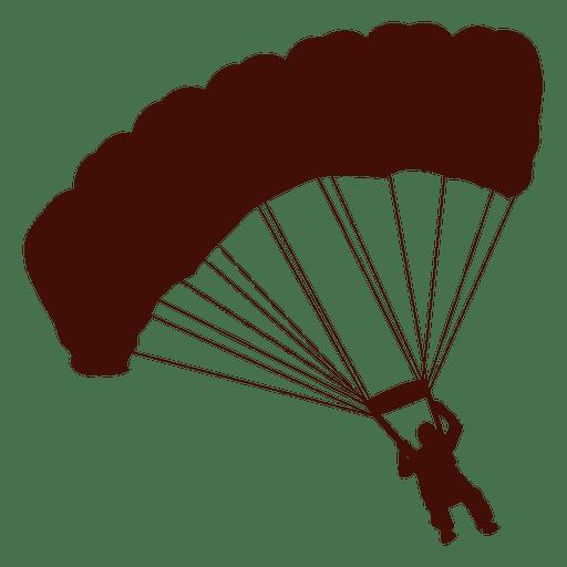 Paragliding flight right turn