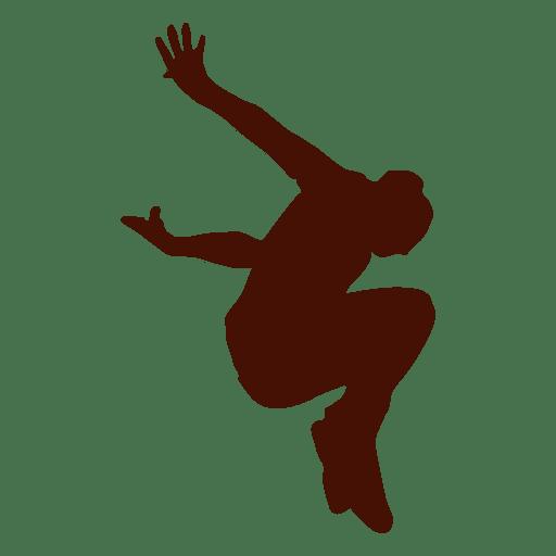 Parkour jump silhouette Transparent PNG