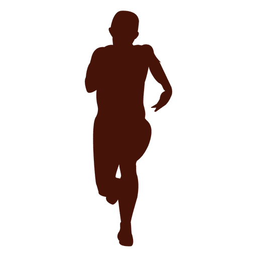 Vector de silueta de hombre corriendo