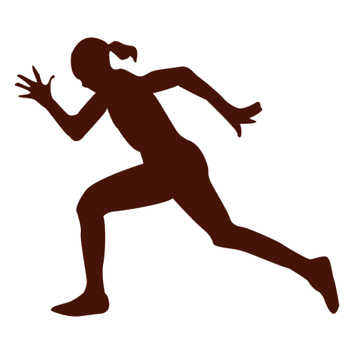 Running speed time silhouette Transparent PNG