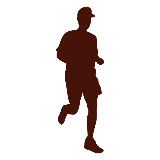 Running silhouette speed time Transparent PNG
