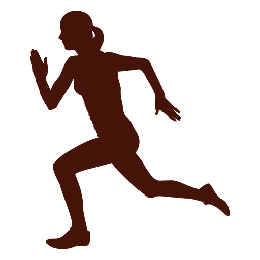 Woman running speed silhouette time Transparent PNG
