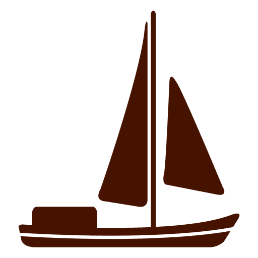 Icono de transporte de vela de barco Transparent PNG