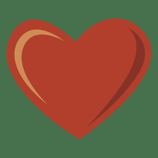 Sombra de luz de corazón rojo simple Transparent PNG