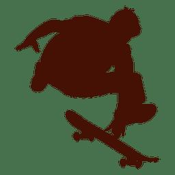 Skateboarding jump silhouette