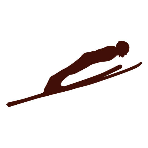 Ski jumping flight Transparent PNG
