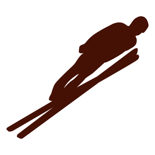 Ski jumping silhouette Transparent PNG