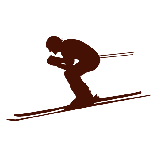 Skiing downhill speed Transparent PNG