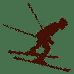Esquiar cuesta abajo invierno