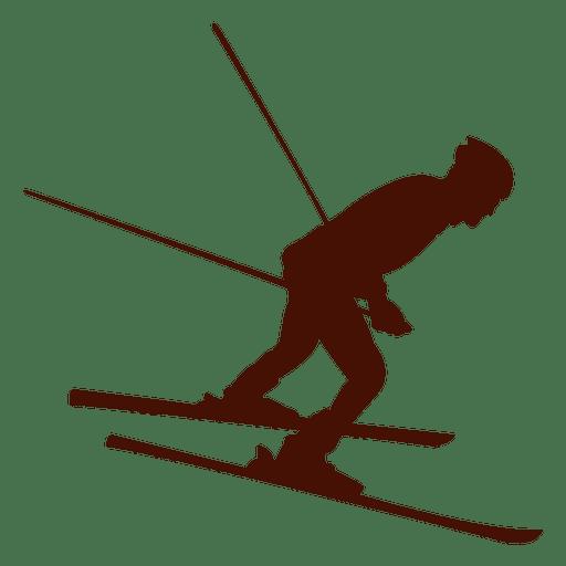 Inverno em declive de esqui Transparent PNG