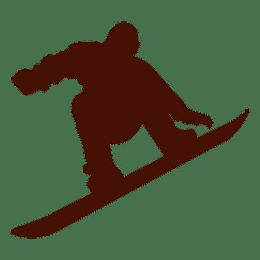 Snowboard salto de invierno