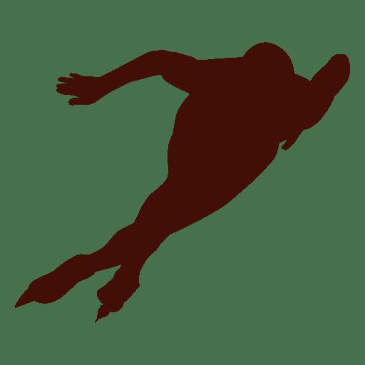 Speed skating left turn