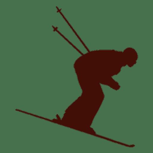 Velocidade esqui downhill Transparent PNG