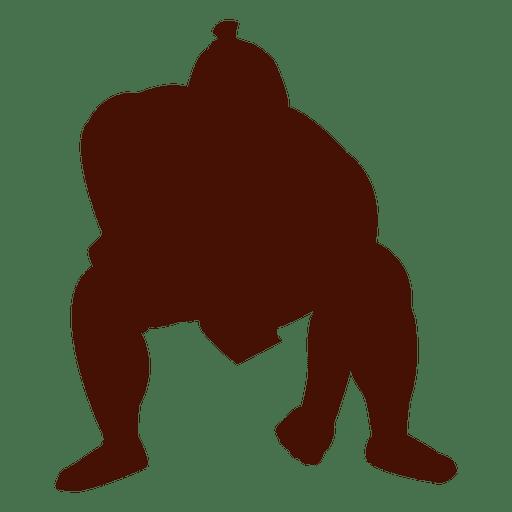 Sumo wrestling start position Transparent PNG