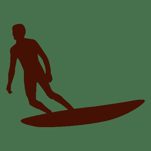 Man Surfing Silhouette