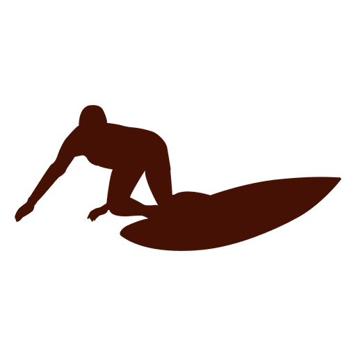 Surfing waves extreme silhouette