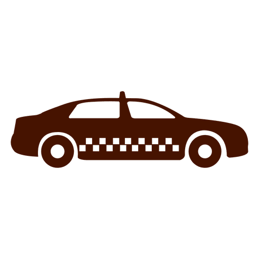 Icono de transporte de coche de taxi Transparent PNG