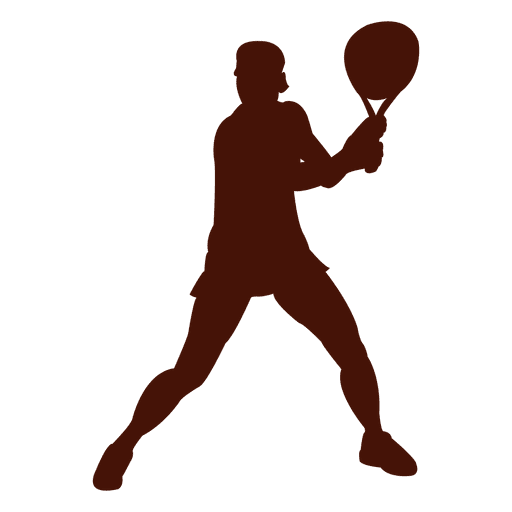 Tennis player playing silhouette Transparent PNG
