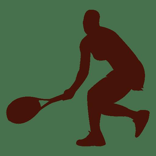 Jugador de tenis silueta deporte diseño Transparent PNG