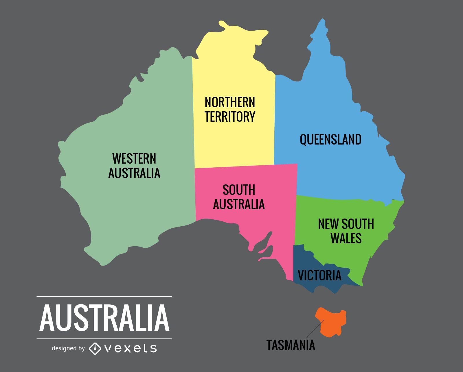 Australia Map Vector Vector download