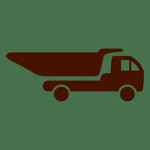 Dump truck silhouette icon - Transparent PNG & SVG vector