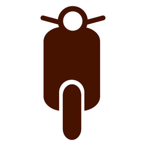 Vespa bike transport icon Transparent PNG