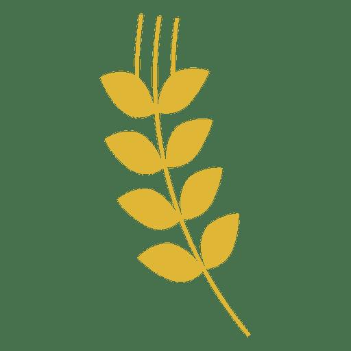 Sihouette de trigo amarillo Transparent PNG