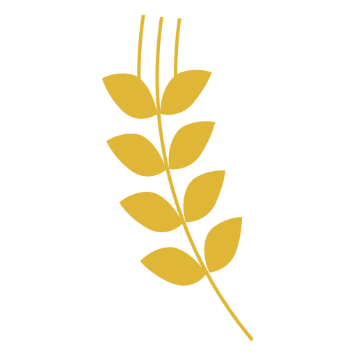 Yellow wheat sihouette Transparent PNG