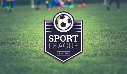 Creador de la etiqueta del logotipo del equipo de fútbol.