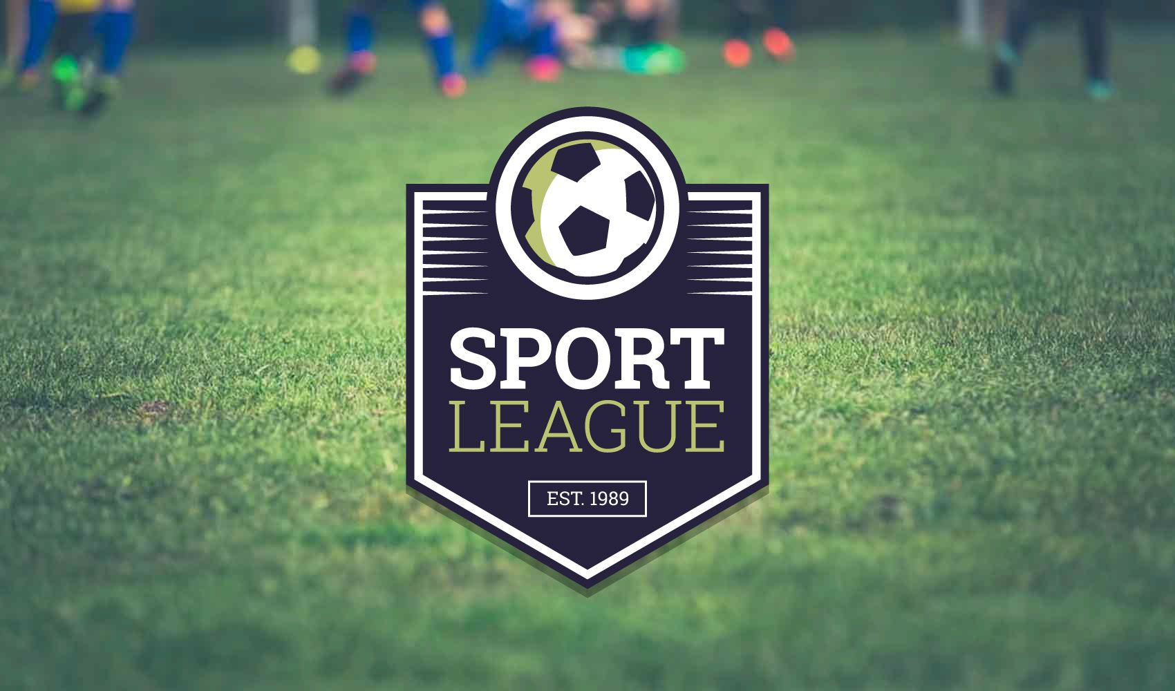 Soccer team logo label creator