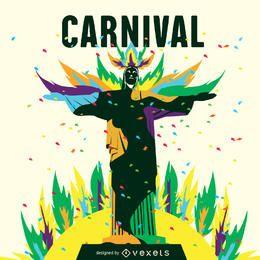 Ilustração do carnaval do Rio