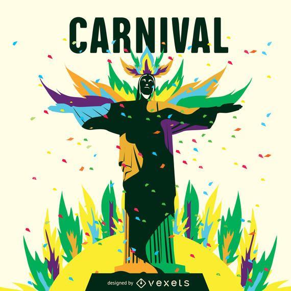 Ilustração do carnaval de Rio