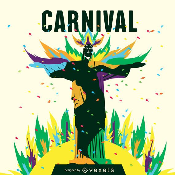 Ilustración del carnaval de Río
