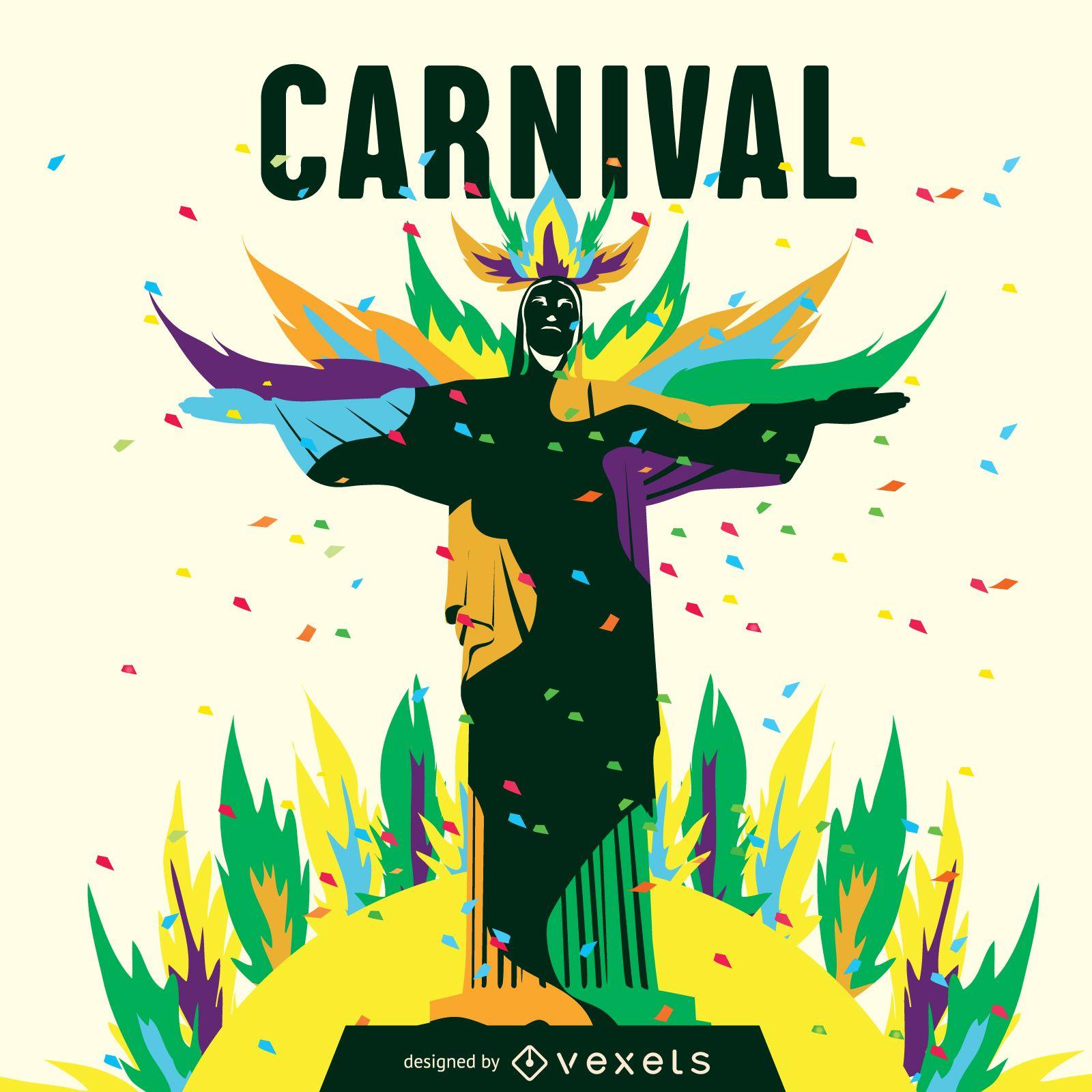 Ilustración del carnaval de rio