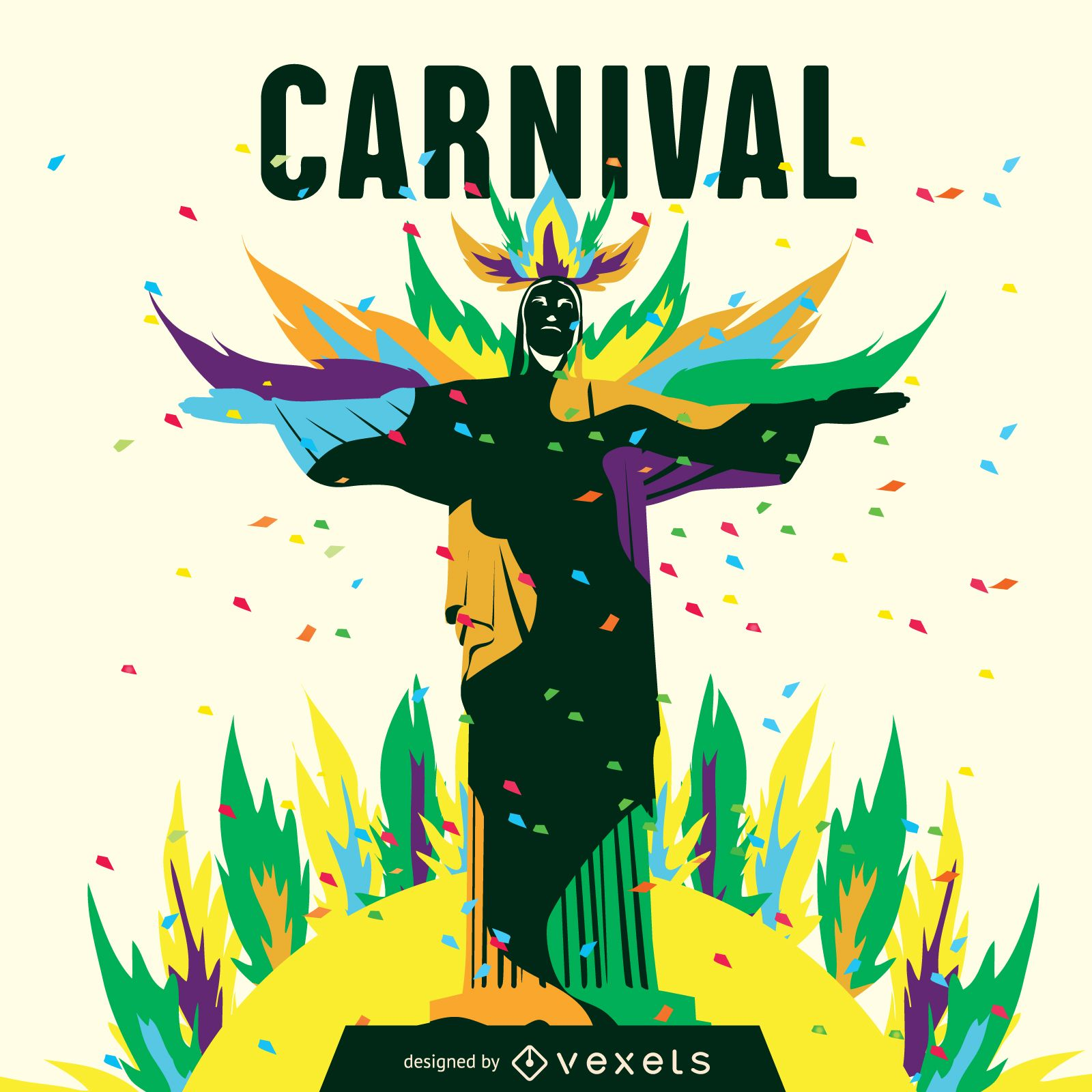 Rio carnival illustration