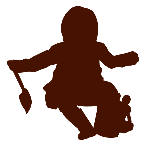 Baby Sitting With Toys Silhouette Transparent Png Svg Vector