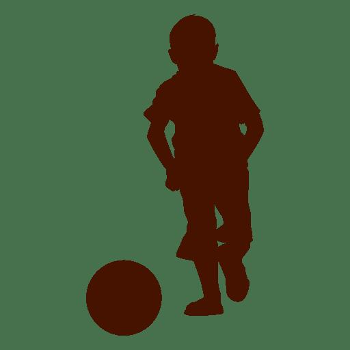 Boy ball silhouette