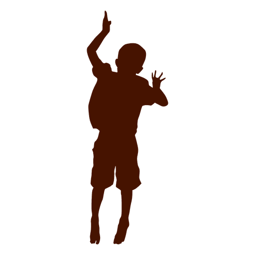 Boy jumping and dancing silhouette Transparent PNG