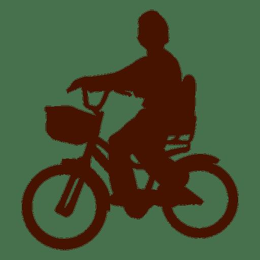 Niño montando bicicleta
