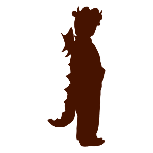 Child lizard Halloween costume silhouette Transparent PNG