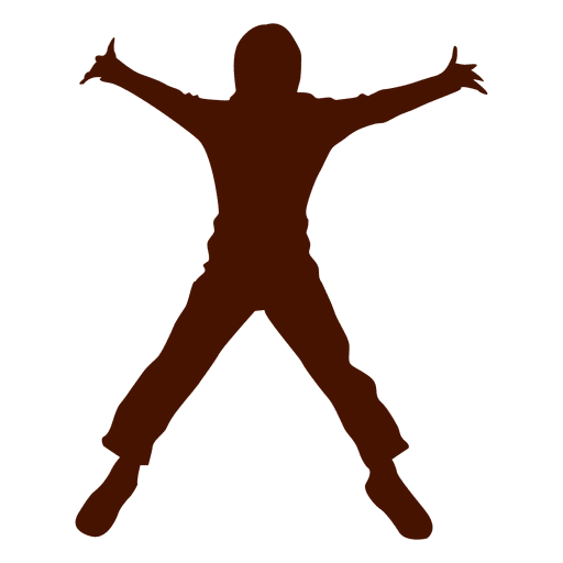 Child open jump silhouette Transparent PNG
