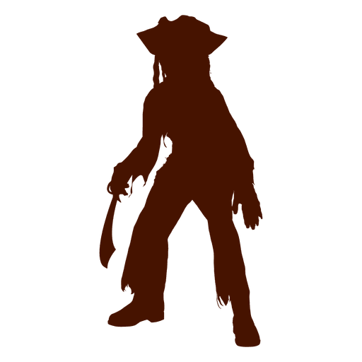 Halloween child pirate costume silhouette Transparent PNG